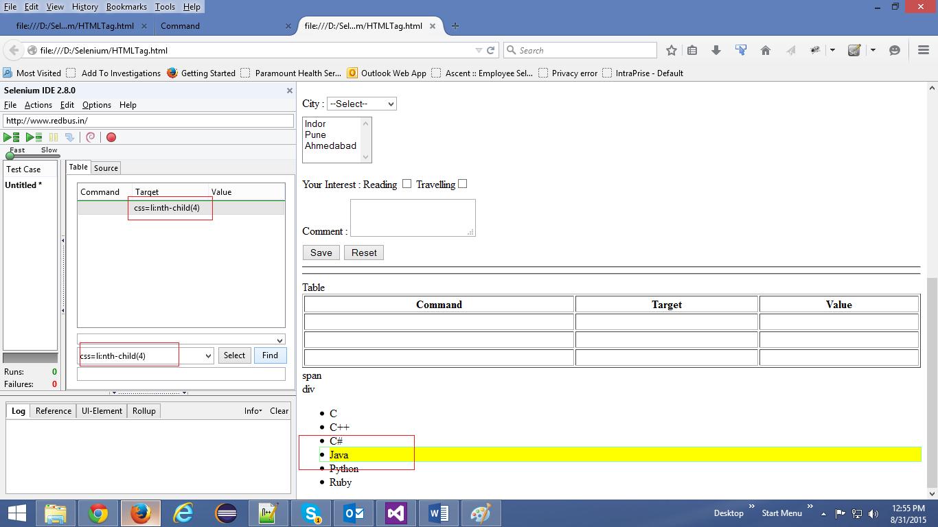 Locator Strategies in Selenium WebDriver: CSS selectors | T