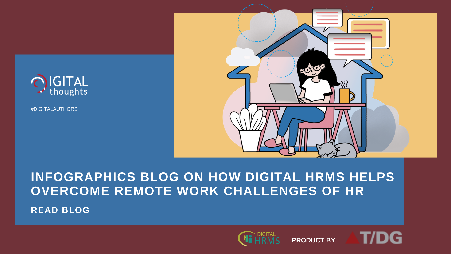 Infographics Blog on How Digital HRMS Helps Overcome 5 Remote Work HR Challenges