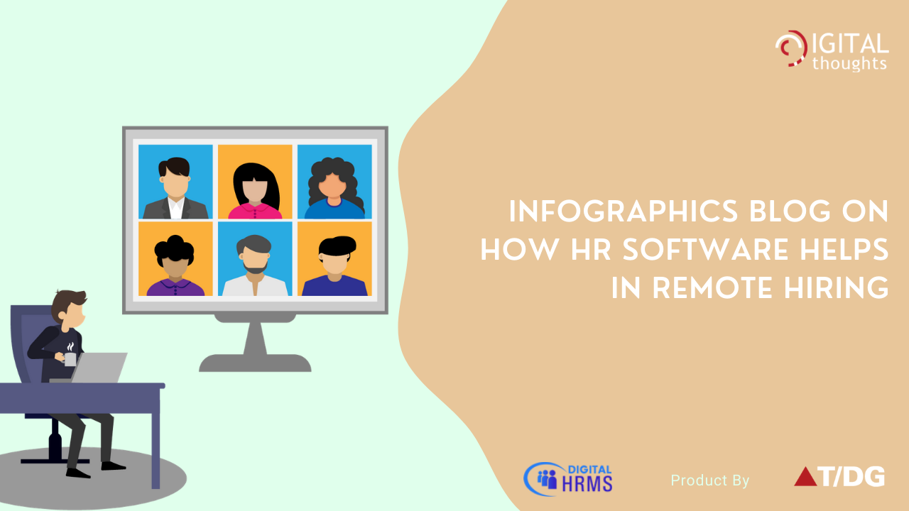 Infographics Blog on Role of HR Software in Remote Recruitment