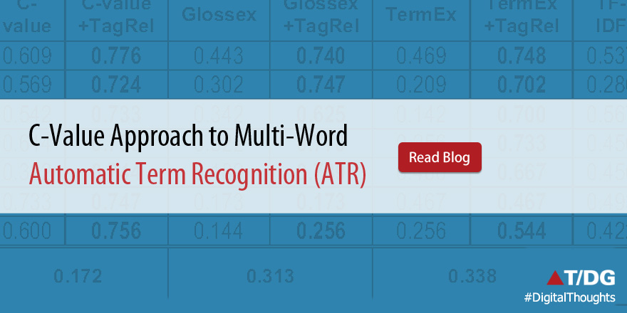 C-value approach to multi-word automatic term recognition (ATR)