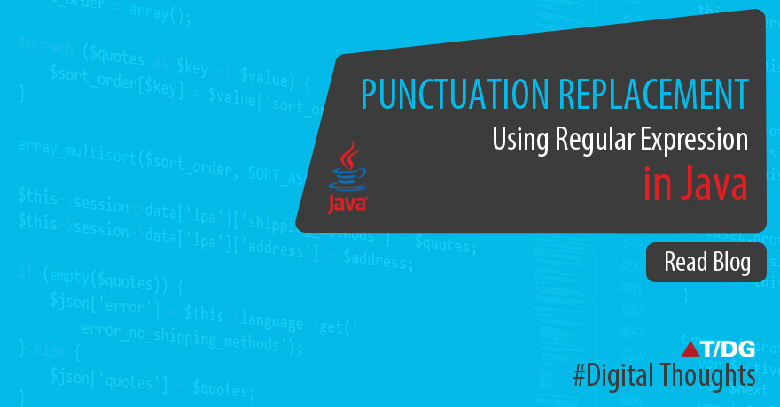 Punctuation replacement using regular expression