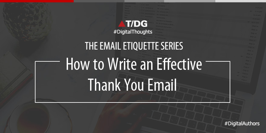 Writing an Effective Thank You Email